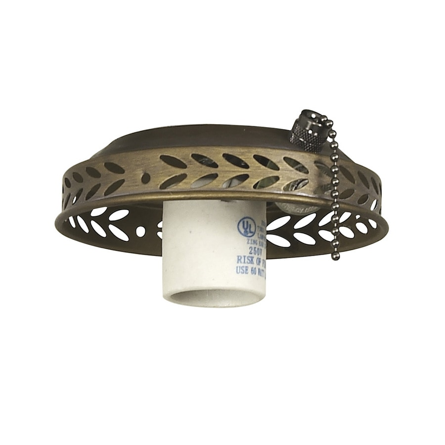 Harbor Breeze 1-Light Moroccan Gold A-15 Medium Base Ceiling Fan Light Kit