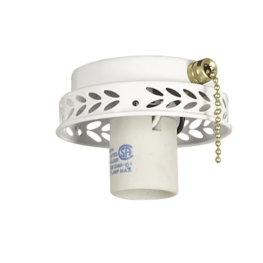 Harbor Breeze 1-Light White A-15 Medium Base Ceiling Fan Light Kit