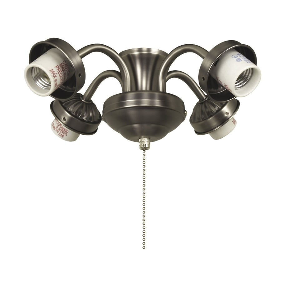 Litex 4-Light Antique Nickel Ceiling Fan Light Kit with Shade Included Glass or Shade