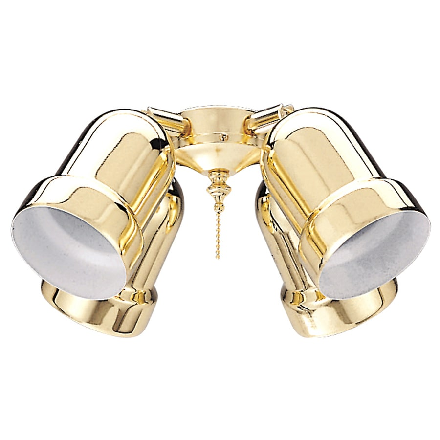 Harbor Breeze 4-Light Bright Brass Ceiling Fan Light Kit with Shade Not Included Glass or Shade