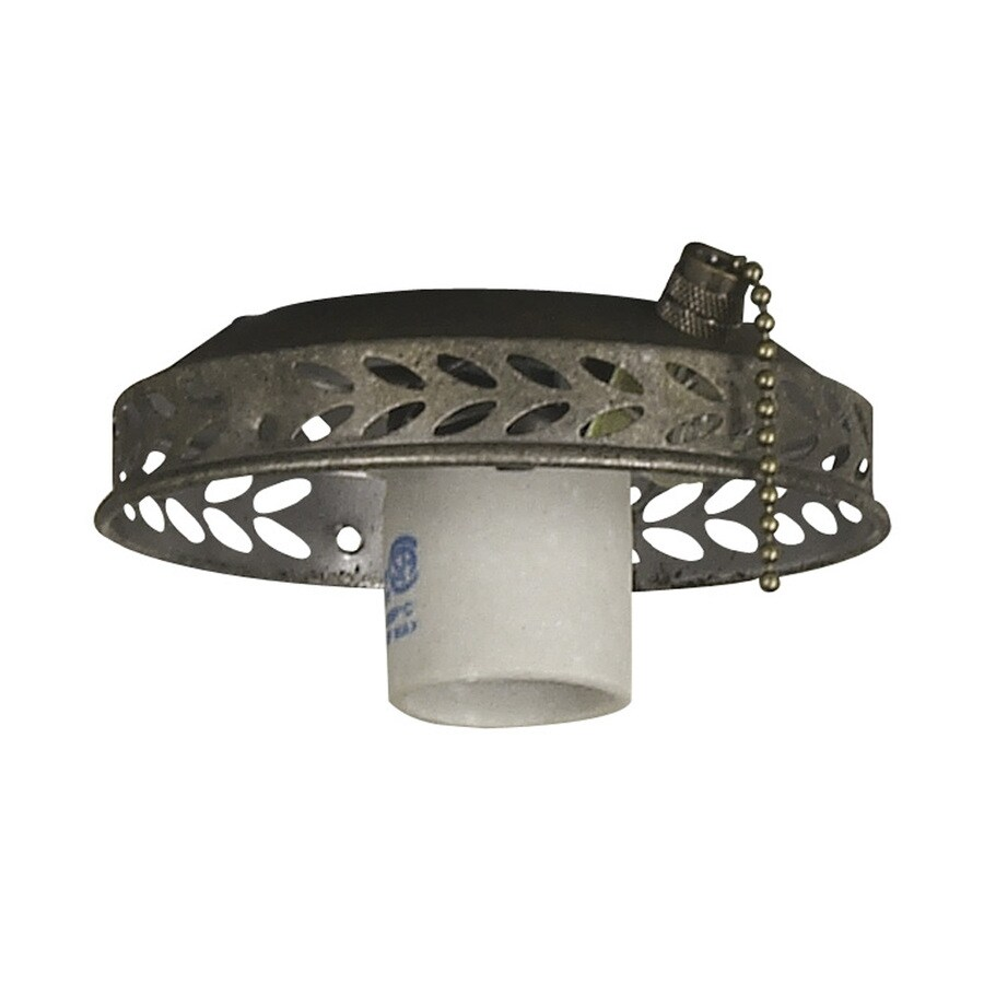 Harbor Breeze 1-Light Vintage Pewter A-15 Medium Base Ceiling Fan Light Kit