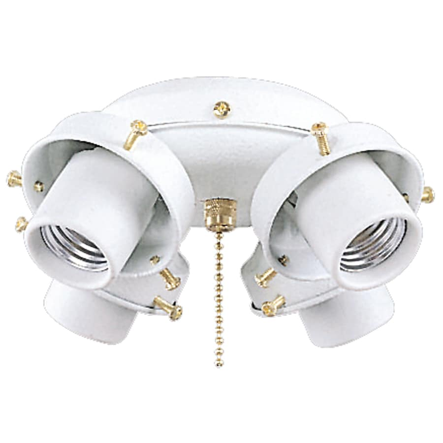 Harbor Breeze 4-Light Textured White Ceiling Fan Light Kit