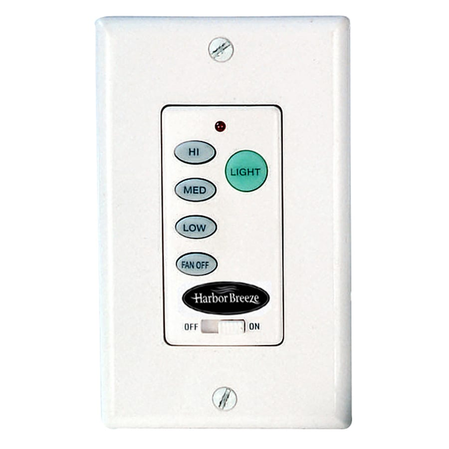 Harbor Breeze 3-Speed 0.5-Amp White Indoor Remote Control Fan Control