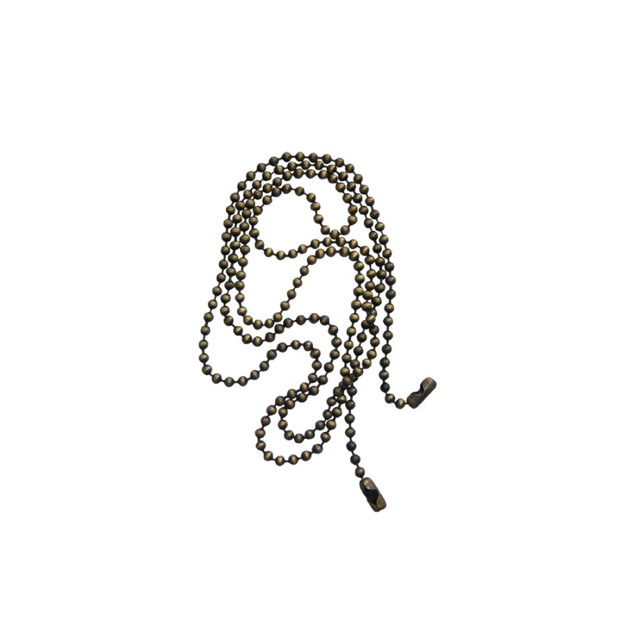 Harbor Breeze 3' Beaded Antique Brass Pull Chain