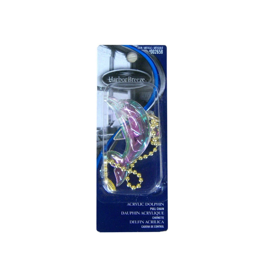 Harbor Breeze Clear Dolphin Shape Pull Chain
