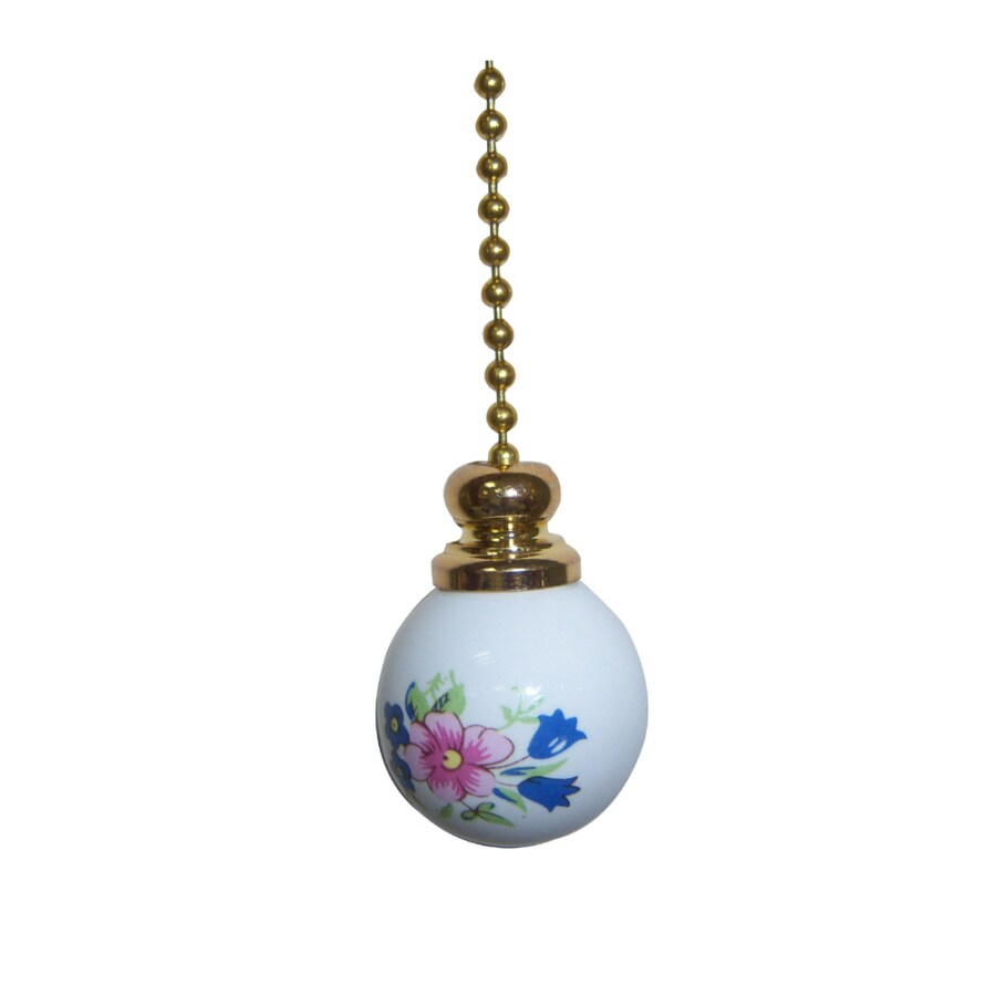Harbor Breeze Floral Garden White Pull Chain