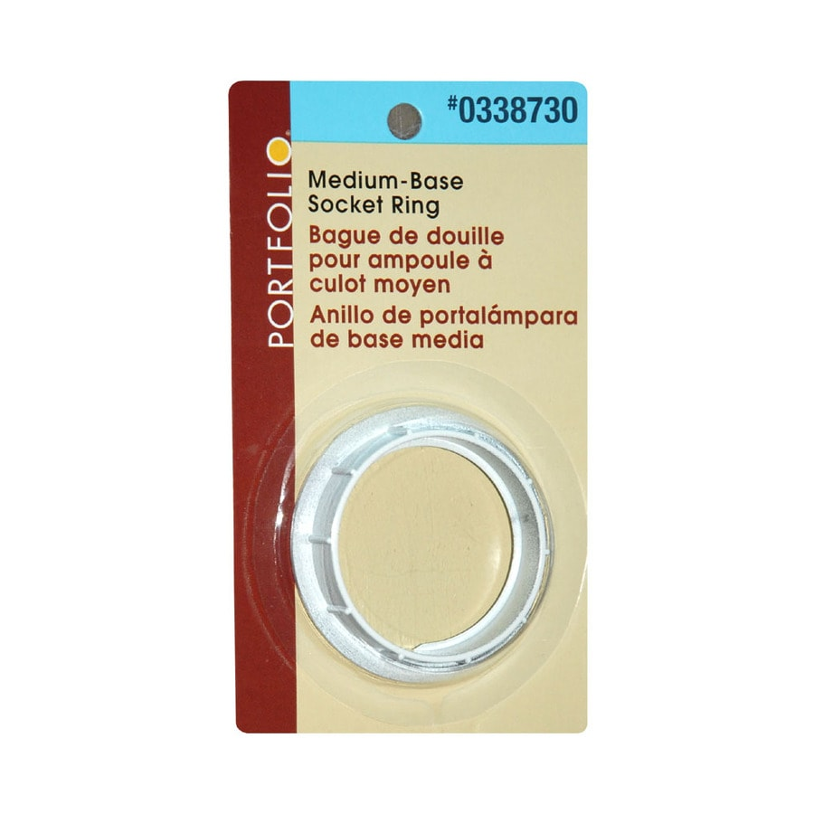 Shop lamp parts cords at lowes portfolio white brass lamp check ring aloadofball Gallery