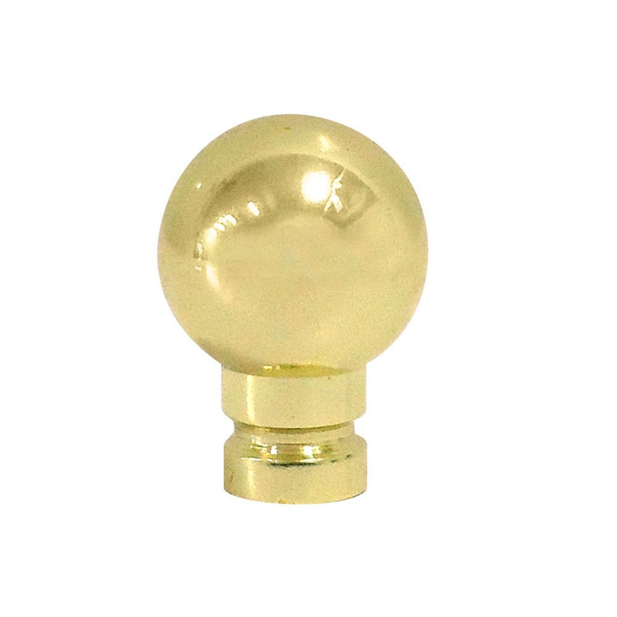 Portfolio 4.88-in L x 1.88-in dia Polished Brass Traditional Brass Lamp Finial