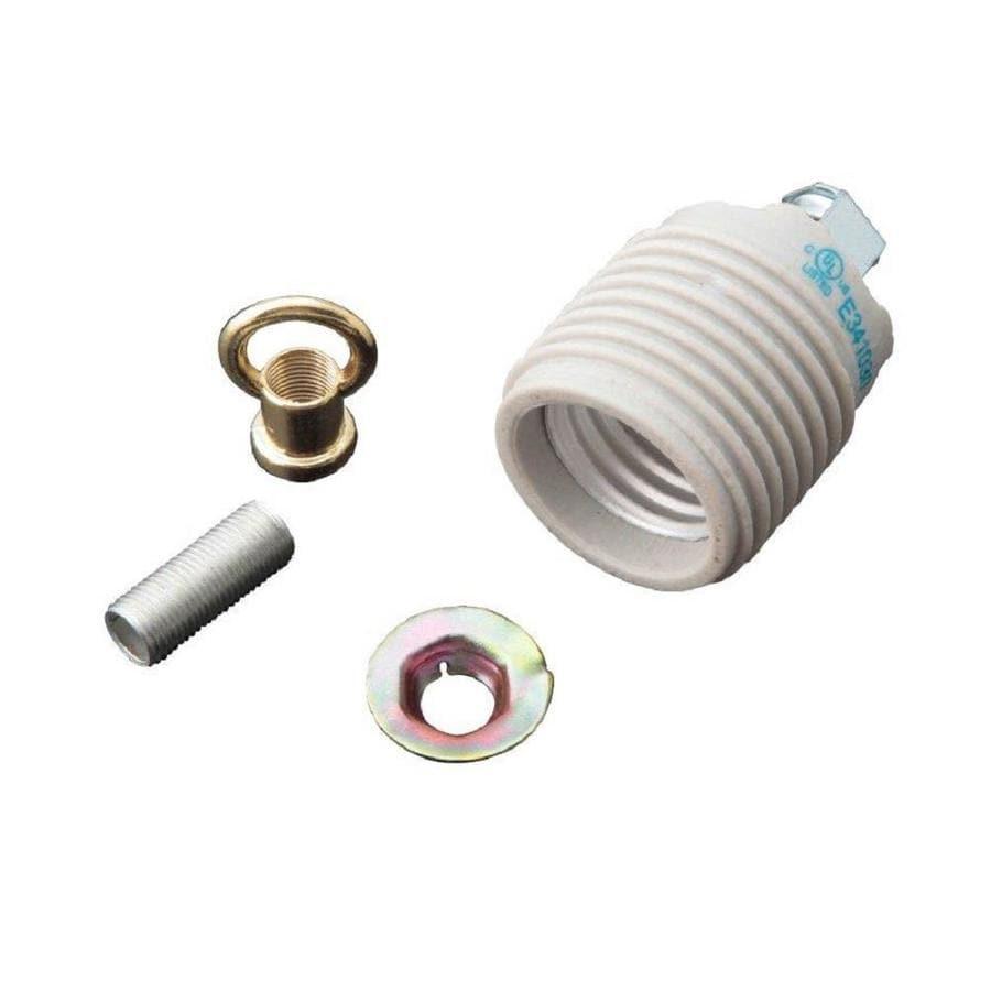 Portfolio 250 Watt White Lamp Socket At Lowes Com