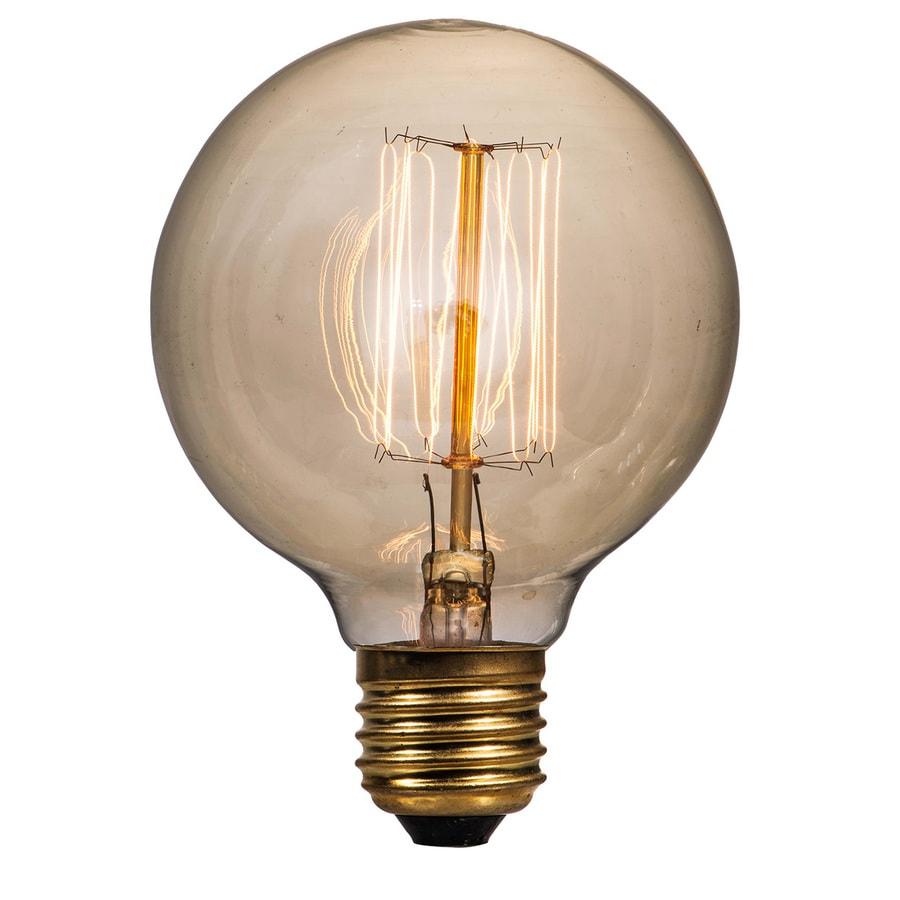 Litex Vintage 40 Watt for Indoor Dimmable Warm White G25 Vintage Incandescent Decorative Light Bulb