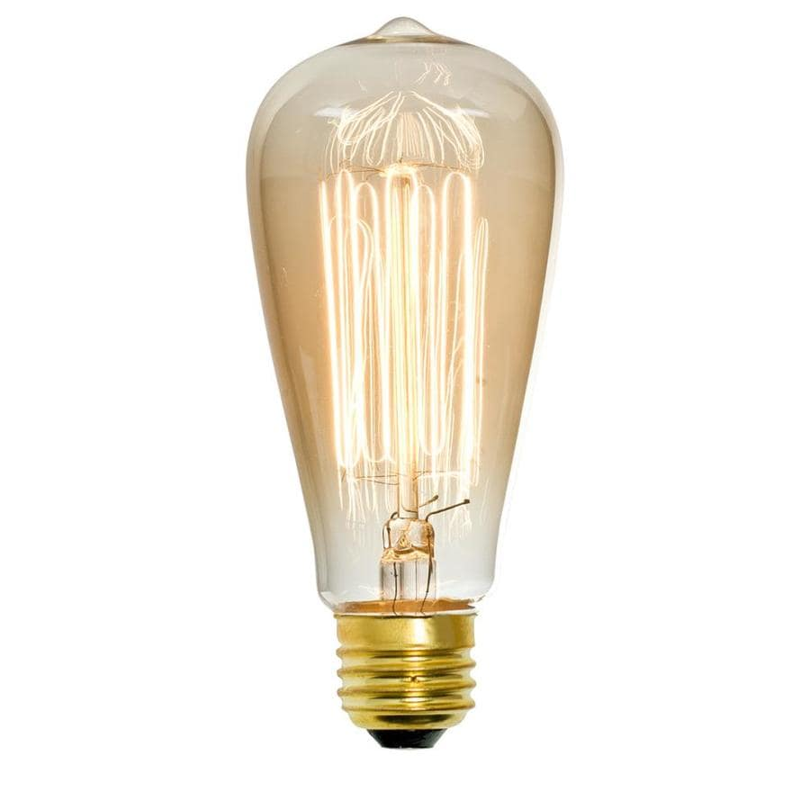 Decorative Light Bulbs Watt Medium Base E Black Decorative Incandescent Light Bulb Soft White: light bulb wattage