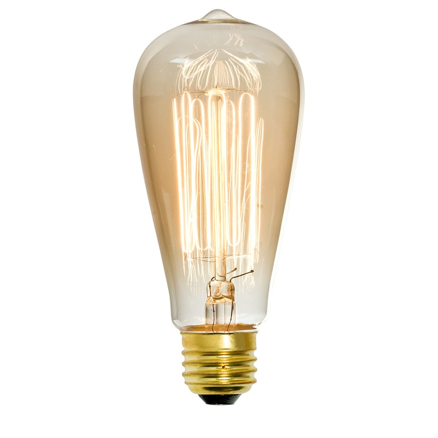 Shop Litex Vintage 60 Watt For Indoor Dimmable Amber St18 Vintage Incandescent Decorative Light: light bulb wattage