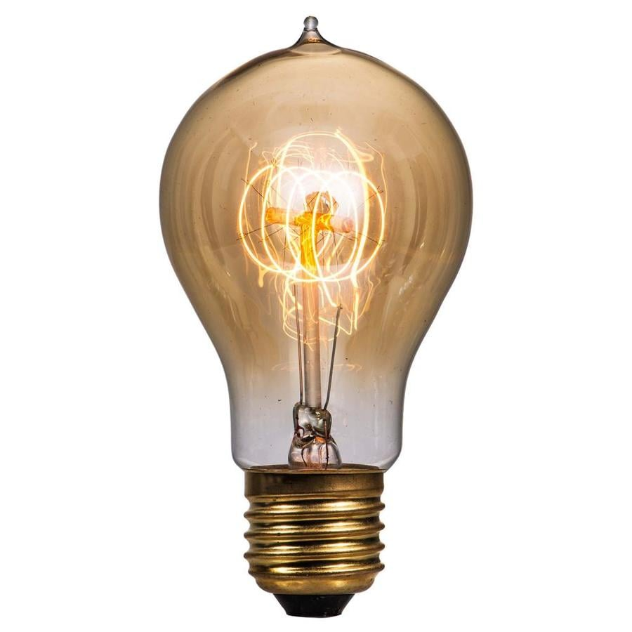 Litex Vintage 60-Watt Indoor Dimmable Warm White A19 Vintage Incandescent Decorative Light Bulb