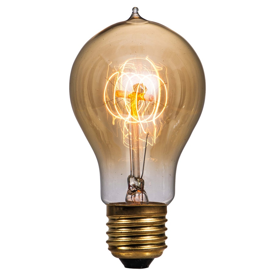 Litex Vintage 60 Watt for Indoor or Enclosed Outdoor Dimmable Warm White Vintage Incandescent Decorative Light Bulb