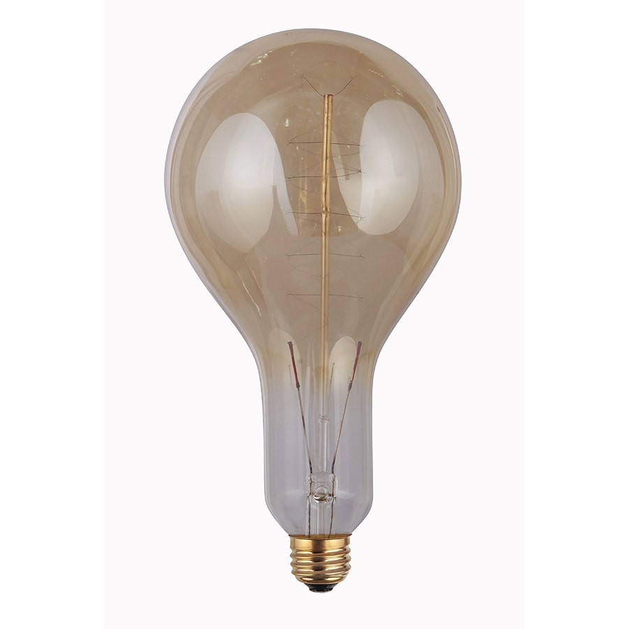 Shop Litex 100 Watt Indoor Dimmable Amber A23 Vintage Incandescent Decorative Light Bulb At