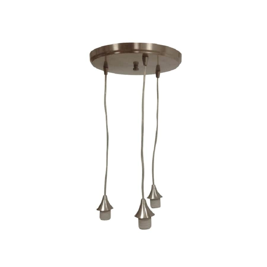 Shop portfolio 118 in brushed nickel mini pendant at lowes portfolio 118 in brushed nickel mini pendant mozeypictures Image collections