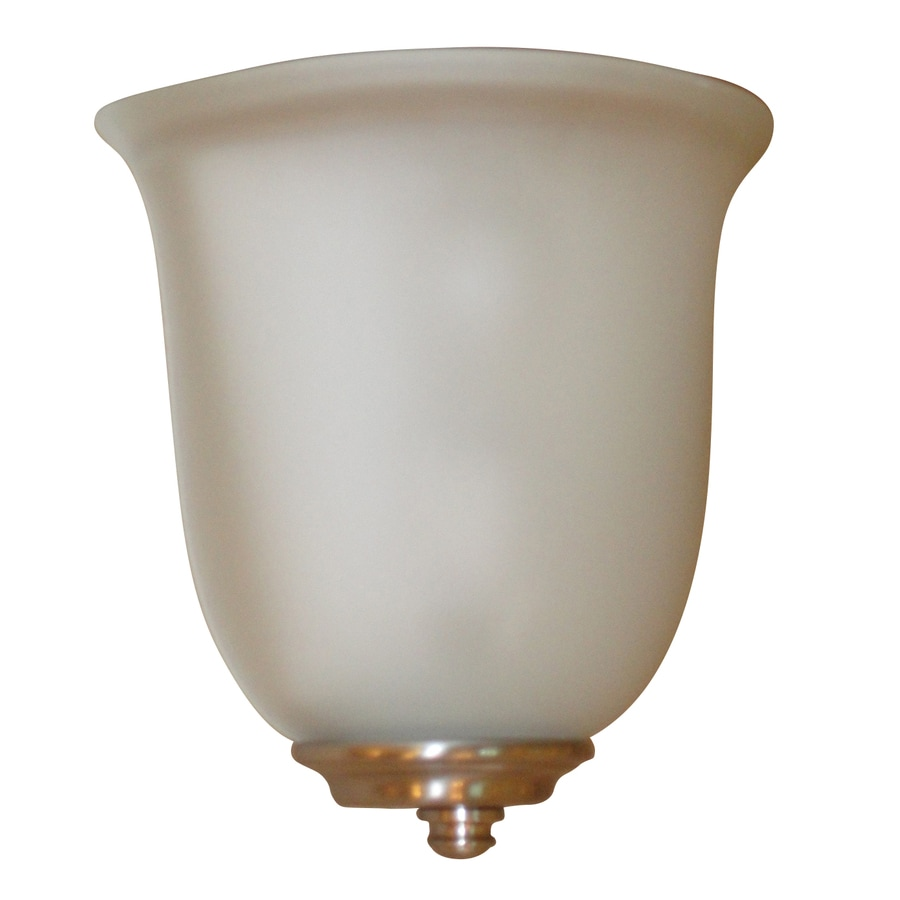 Portfolio Wall Sconce Brushed Nickel : Shop Portfolio 8.5-in W 1-Light Brushed Nickel Pocket Battery LED Wall Sconce at Lowes.com