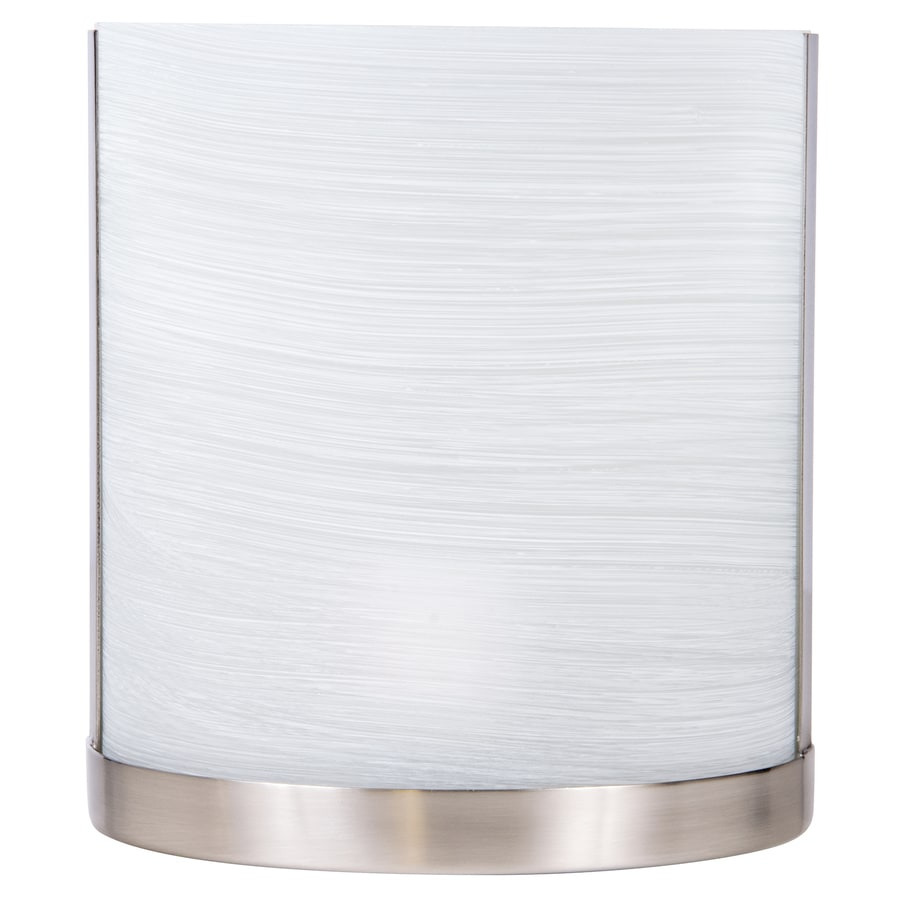 Allen Roth Merington 6 5 In W 1 Light Brushed Nickel Pocket Wall Sconce