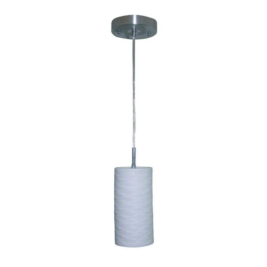 allen + roth Box 5-in Brushed Nickel Mini Pendant