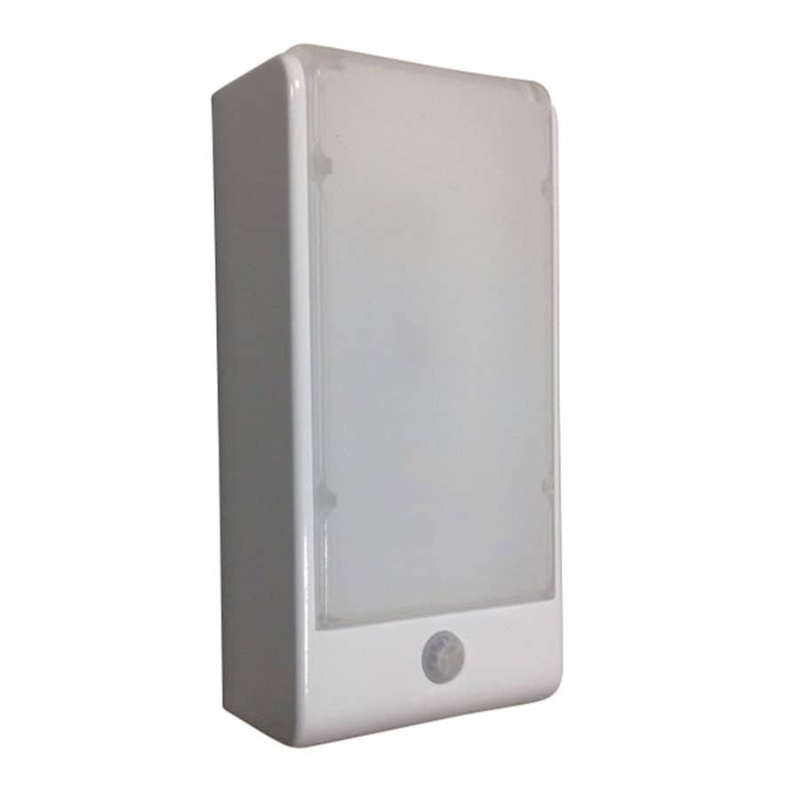 portfolio 315in w 1light white directional battery operated operated led wall sconce