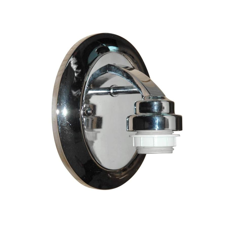 Shop Portfolio 5.12-in W 1-Light Chrome Arm Wall Sconce at Lowes.com
