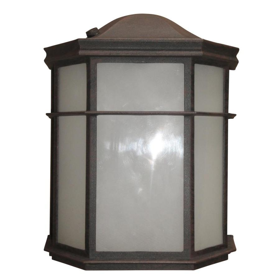 Litex 9.5-in H LED Bronze Outdoor Wall Light