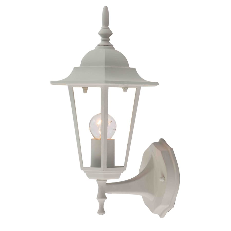 Portfolio 13.4-in H Matte White Outdoor Wall Light