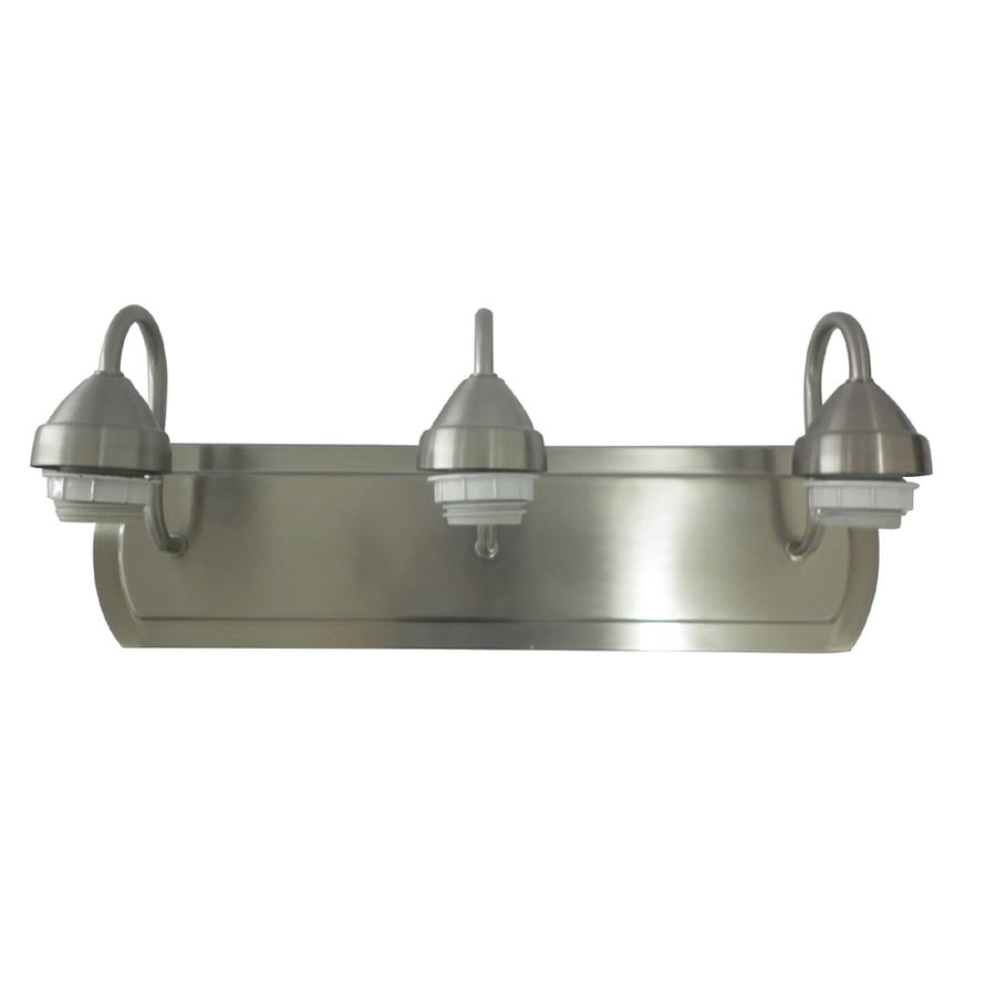 Shop Portfolio 3-Light 18-in Brushed Nickel Vanity Light Bar at ...