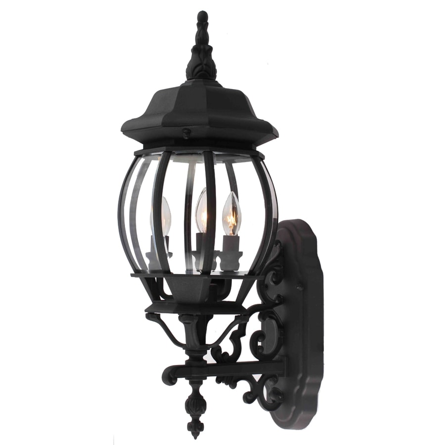 Portfolio 22-in H Matte Black Outdoor Wall Light
