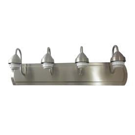 Portfolio 4 Light 24 In Brushed Nickel Vanity Light Bar At Lowes Com