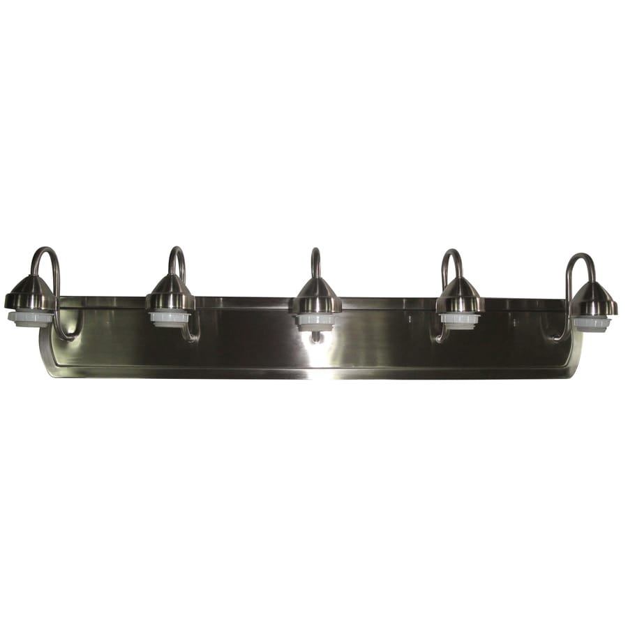 Portfolio 5-Light 7.33-in Brushed Nickel Vanity Light Bar