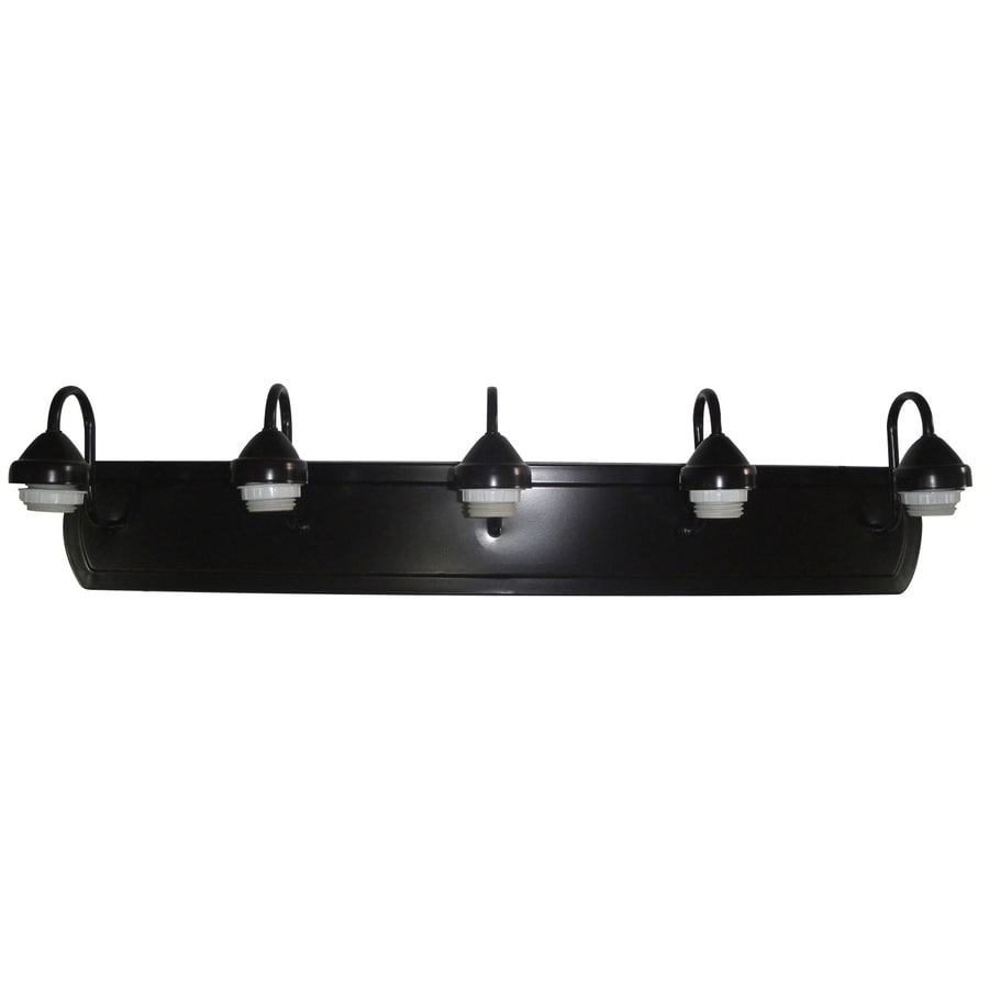 Shop Portfolio 5-Light 7.33-in Dark Oil Rubbed Bronze Vanity Light Bar at Lowes.com