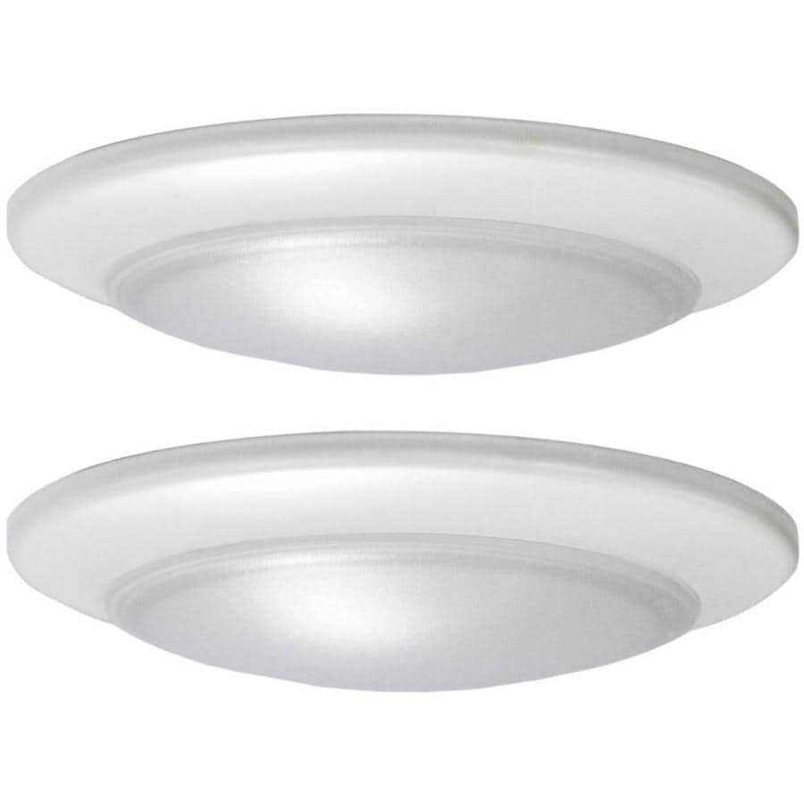 Shop flush mount lights at lowes project source 2 pack 74 in w white led flush mount light energy star aloadofball