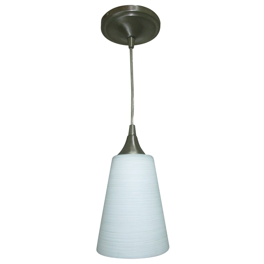 Portfolio 5.5-in Polished Nickel Hardwired Mini Cone LED Pendant