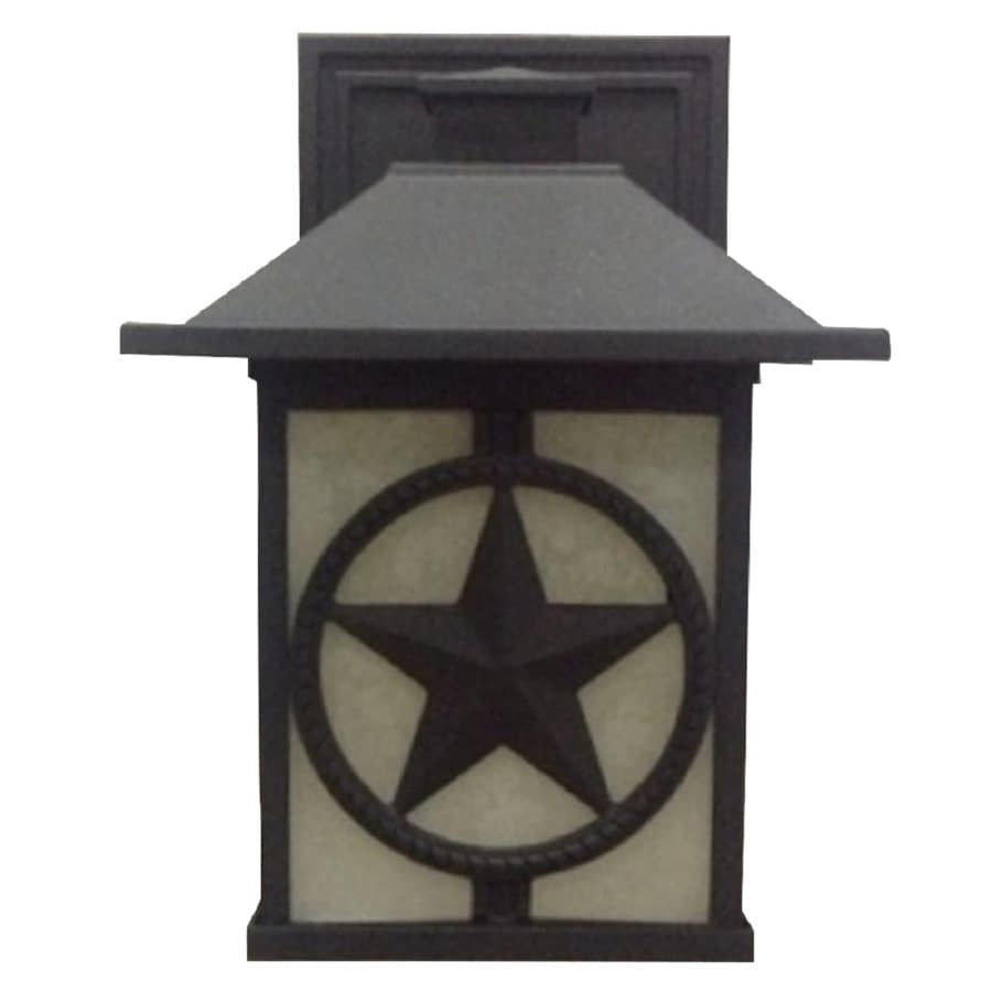 Portfolio Thoroughbred 12.5-in H Black Outdoor Wall Light