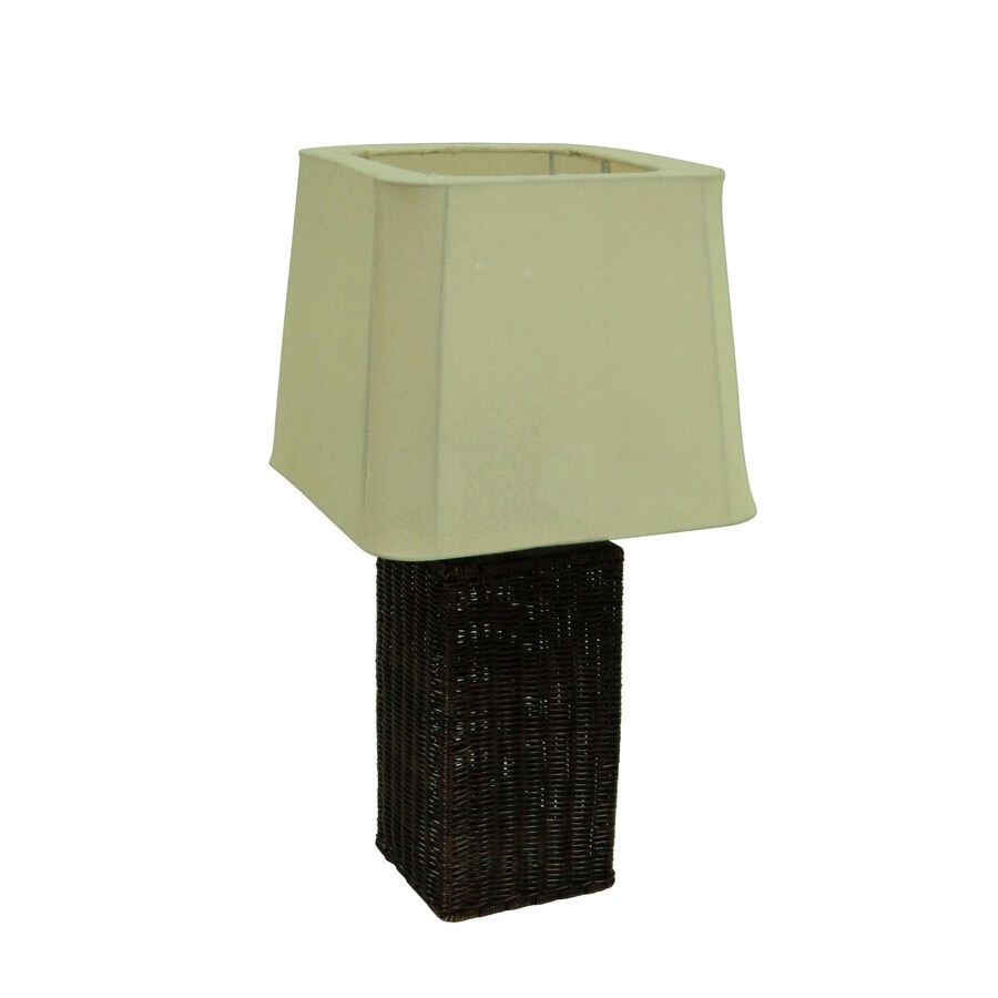 allen + roth 25-in Brown Table Lamp with Fabric Shade - Shop Allen + Roth 25-in Brown Table Lamp With Fabric Shade At
