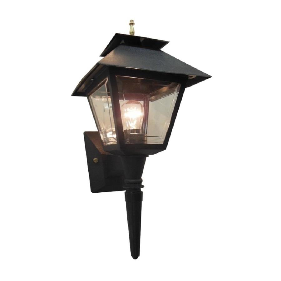 Portfolio 17.75-in H Black Outdoor Wall Light