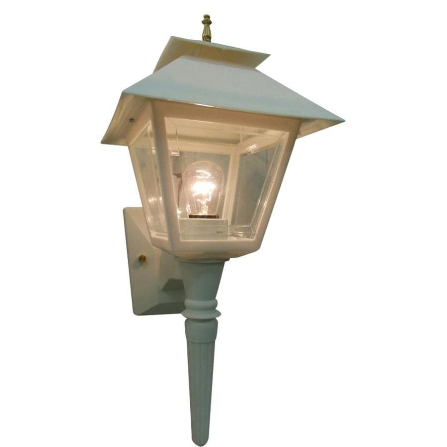 Portfolio 17.75-in H White Outdoor Wall Light