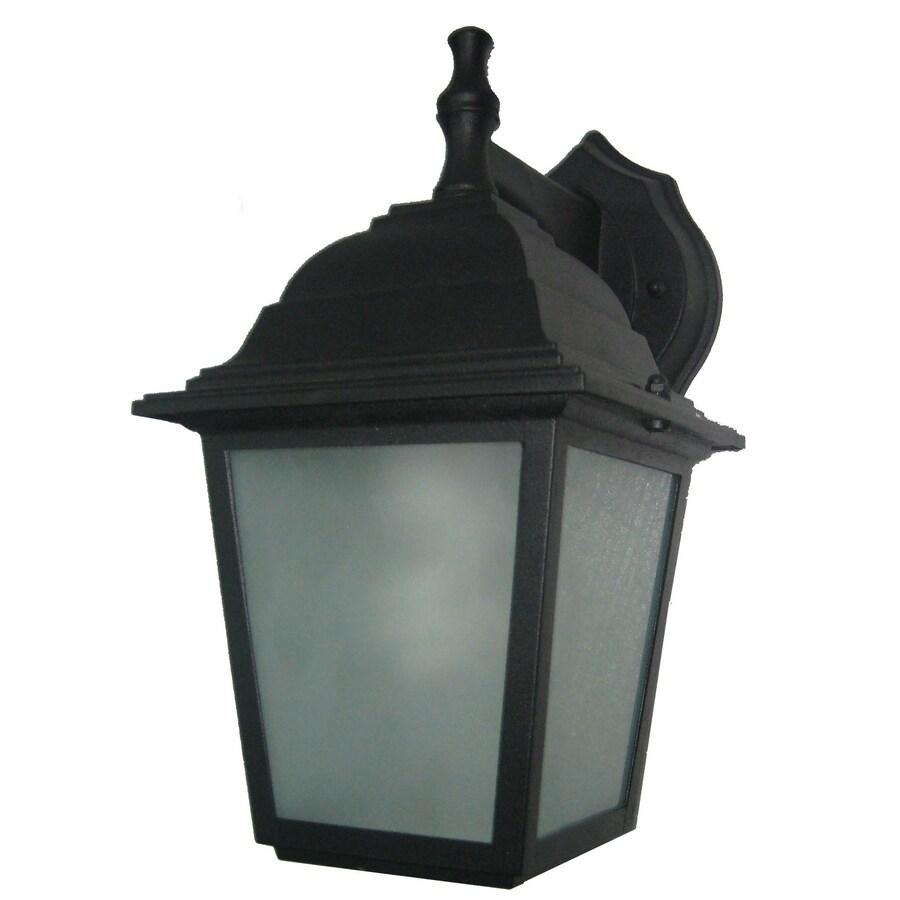Portfolio 10.75-in H Black Outdoor Wall Light