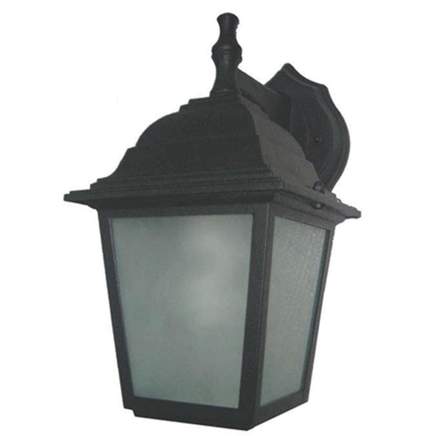 Portfolio 10.75-in H Sandy Black Outdoor Wall Light