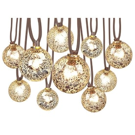 allen + roth 10.5-ft 10-Light Mercury Glass-Shade Plug-In Globe String Lights