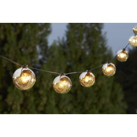 Shop allen + roth 10.5-ft 10-Light White Tinted Glass-Shade Plug-in Globe String Lights at Lowes.com