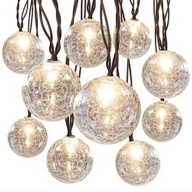 allen + roth 8.5-ft 10-Light Crackled Glass-Shade Plug-In Globe String Lights