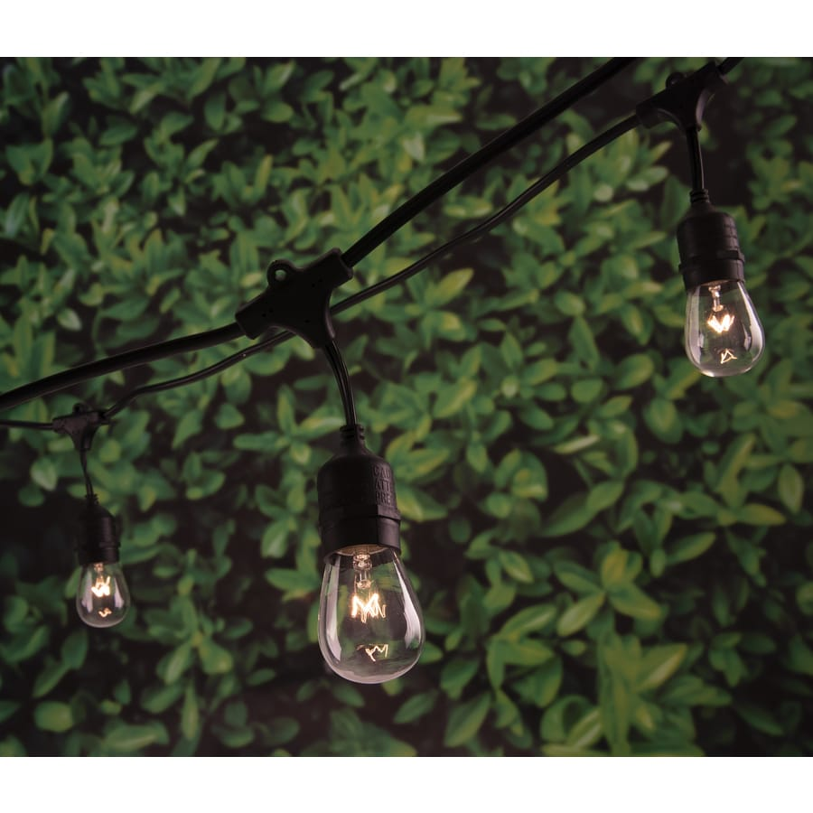 Outdoor Patio String Lights Lowes: Portfolio 24-ft 12-Light White Plug-in Bulbs String Lights