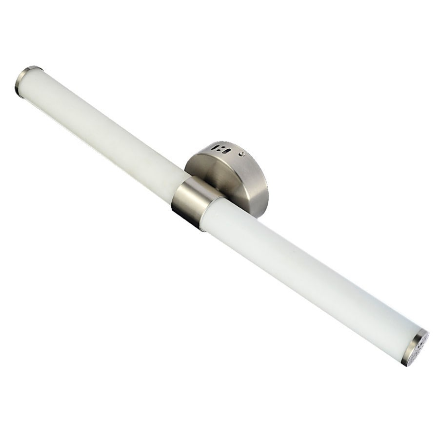Shop Style Selections Nukara Light In Brushed Nickel LED Vanity - Brushed nickel led bathroom light