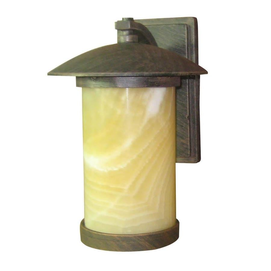 Portfolio Everus 10.38-in H Bronze Outdoor Wall Light