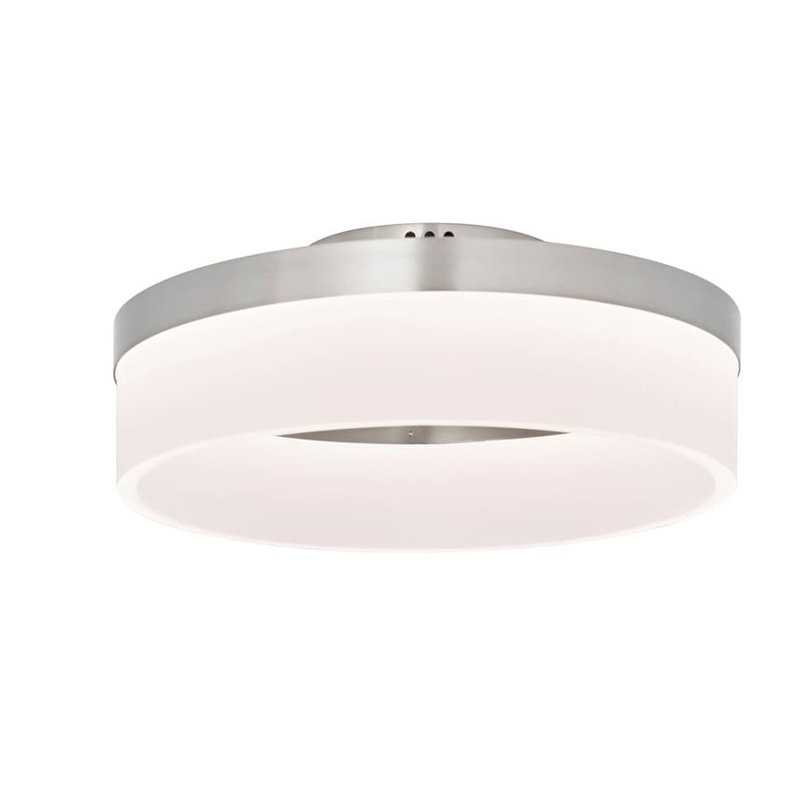 shop style selections lynnpark w brushed nickel led flush mount light at. Black Bedroom Furniture Sets. Home Design Ideas