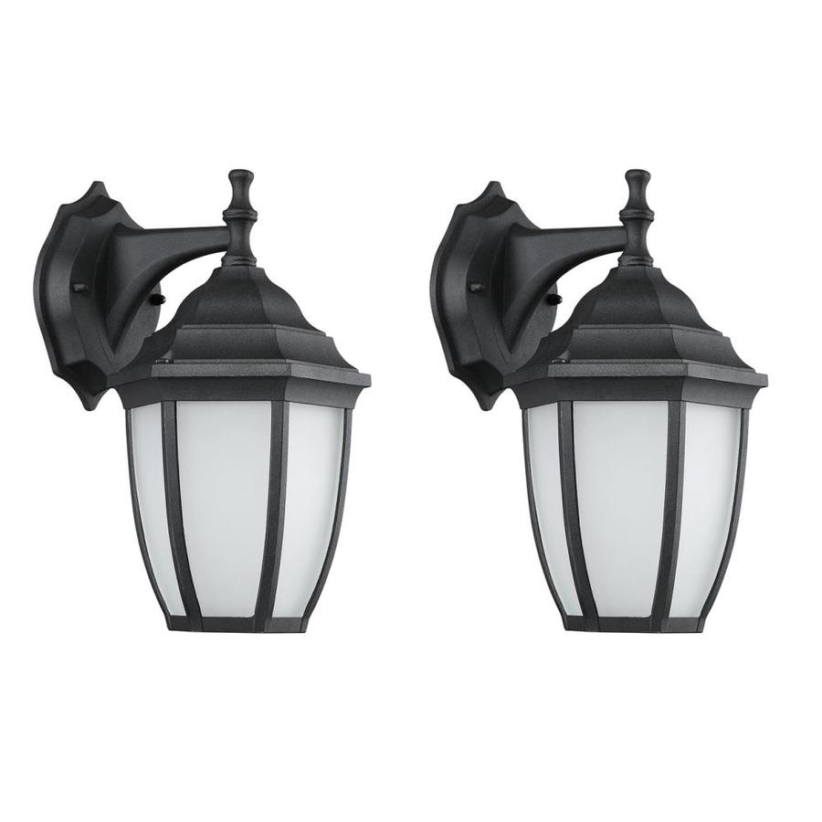 Shop portfolio 1122 in h sandy black led outdoor wall light at portfolio 1122 in h sandy black led outdoor wall light workwithnaturefo