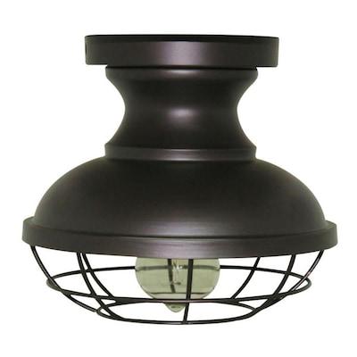 timeless design 11787 c3ab4 Allen + roth Yordan 8.4-in W Bronze Metal Semi-Flush Mount ...