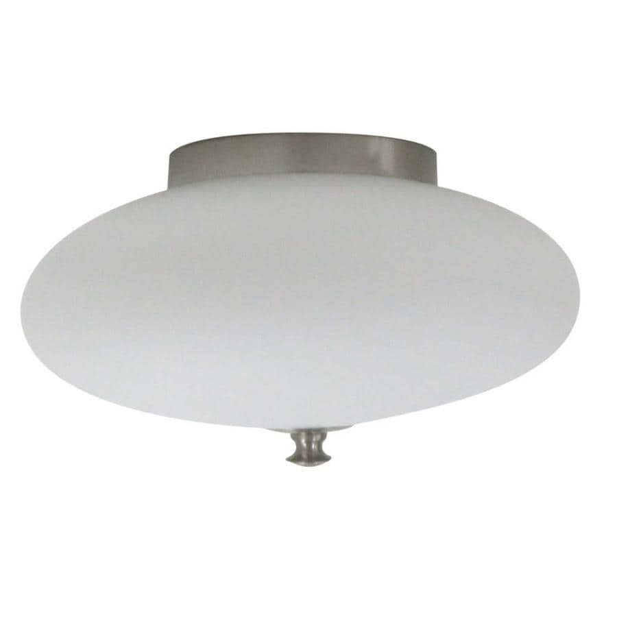 Portfolio Clarkhurst 12.625-in W Polished Nickel Flush Mount Light